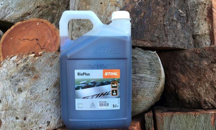 We use Stihl BioPlus chain Oil